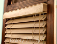 rolety żaluzje zaluzje poziome drewniane